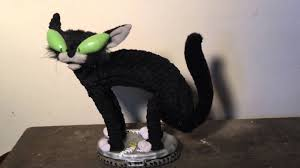 cat halloween gemmy animated alley cat halloween decoration youtube