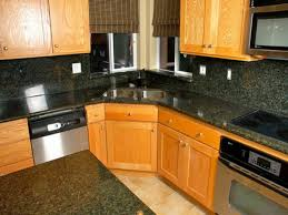 granite countertop kitchen cabinet island table penny tile