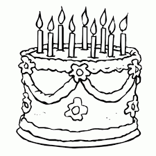 get this printable birthday cake coloring pages online 91060