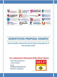 dissertation proposal credit rating agencies credit rating