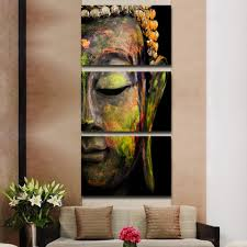 Feng Shui Home Decor by Feng Shui 3pcs Buddha Painting Wall Art Paintings Canvas Home