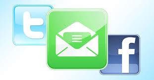 Cómo usar Facebook y Twitter desde tu casilla de mail