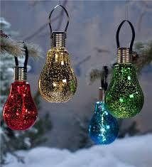 hanging edison bulb solar ornament plow u0026 hearth