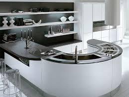 decorations elegant curve white modern kitchen island