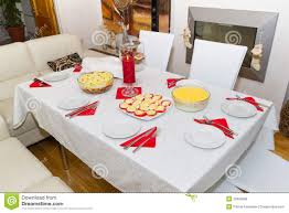 Dinner Table White Christmas Dinner Table Royalty Free Stock Images Image