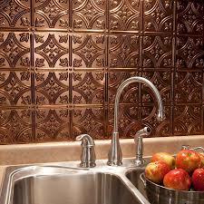 Wallpaper For Backsplash In Kitchen Metal Backsplash Oil Rubberd Bronze Panel Kitchen Metal Faux Tin