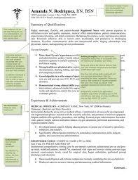 Registered Nurse Resume Examples by Nursing Resume Templates Free Nursing Resume Template U2013 9