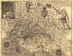 Map Of The New England Colonies by Virginia Colony