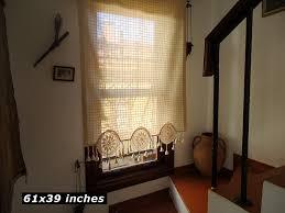 window curtain kitchen curtain window treatment valance cotton