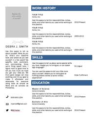 View Resume Samples by Download Best Microsoft Word Resume Templates