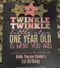 1st Year Baby Birthday Invitation Cards Twinkle Twinkle Little Star First Birthday Invitations I Love The