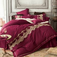 Red King Comforter Sets Royal Luxury Duvet Cover Bed Sheet Bedding Pillowcase Embroidered