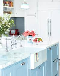 Shabby Chic Kitchen Cabinet Shabby Chic Painted Kitchen Cabinets Mixed With Blue Backless
