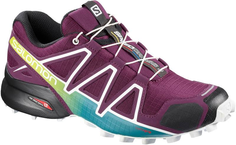 Salomon Speedcross 4 Trail Running Shoes Dark Purple/White/Deep Lake 6 US L401361006