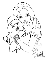 great barbie coloring page 97 for line drawings with barbie