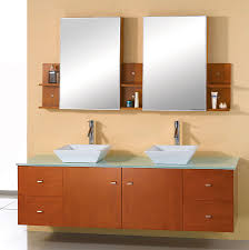 abodo 72 inch modern bathroom vanity glass top honey oak finish