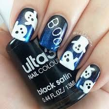 halloween nail art designs ghost