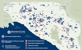 Los Angeles County Map by Area Coverage Map Memorialcare Health System Orange County