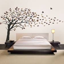 Bedroom Wall Decals Trees Blowing Leaves Tree Decal