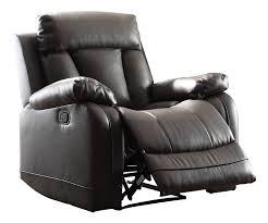 Leather Rocker Recliner Swivel Chair Amazon Com Home Elegance 8500blk 1 Ackerman Recliner Chair Black