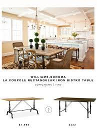 Bistro Table For Kitchen by Williams Sonoma La Coupole Rectangular Iron Bistro Table Copycatchic