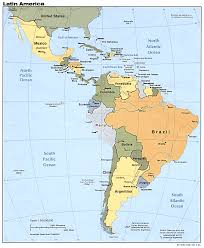 Physical Map Of South America by Maps Of Latin America Lanic