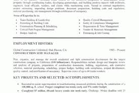 Construction Management Resume Examples by Trade Resume Samples Reentrycorps