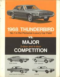 personal luxury wars 1968 ford thunderbird versus the competition