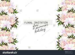 Sport Invitation Card Wedding Invitation Cards Floral Elements Stock Vector 307863113