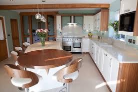 Contemporary Kitchen Design Ideas by Amazing Bean Shape Modern Kitchen Decorating Ideas
