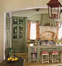 kitchen red vintage chandelier lantern clam green wooden kithen