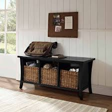 Ikea Wicker Baskets by Decorating Crosley Furniture Wallis Entryway Storage Bench With 3