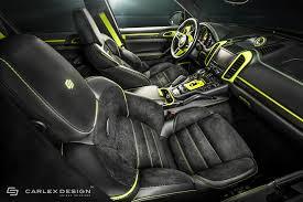 Porsche Cayenne Inside - porsche cayenne gets acid green interior makeover by carlex design