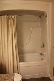 shower stunning one piece tub shower kohler left hand drain