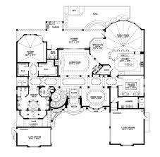 Cabana House Plans by Mediterranean Style House Plan 5 Beds 5 50 Baths 6045 Sq Ft Plan