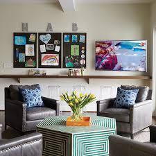 Home Office Family Room Combo Design Ideas - Family room office