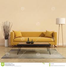 Yellow Interior by Modern Modern Interior With A Yellow Sofa In The Living Room With