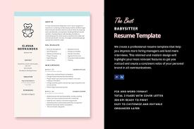 hair stylist resume sample babysitter resume template resume templates creative market