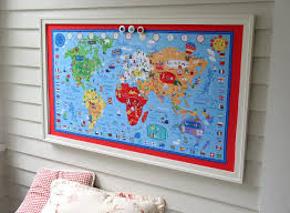 Kids World Map World Map Bulletin Board Kids Magnetic Memo Board With Red