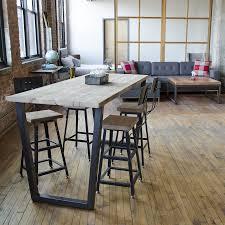 modern custom furniture bar height table urban wood goods