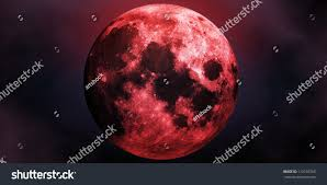scary moon background big red scary moon abstract halloween stock illustration 112193765