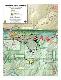 Unm Map Cajete Fire 1 412 Acres Burned 96 Percent Contained Krqe News 13