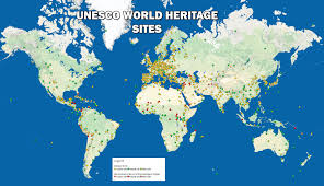 Blank Map Of Afro Eurasia by All Unesco World Heritage Sites Both Natural And Cultural 2 047