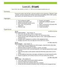 strong words for resumes impactful professional food u0026 restaurant resume examples