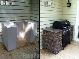 Ideas For Outdoor Kitchen Faux Stone U0026 Counter Space For Outdoor Grilling This Would Be An