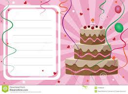 Birthday Invitation Cards Models Birthday Invitation Card Boy Royalty Free Stock Photography