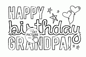 dad grandpa printable coloring birthday cards free printable