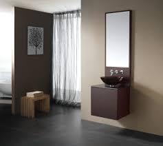 elegant design ideas using round brown mirrors and round white