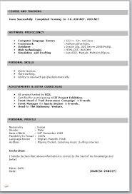 Ms Word Sample Resume by Sample Resume Format Word Resume Format For Freshers In Ms Word