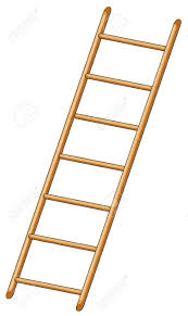 illustration of ladder on white background royalty free cliparts